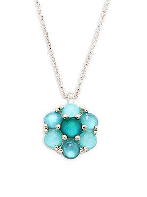 Ippolita Rock Candy Sterling Silver Wonderland Small Multi Flower Necklace