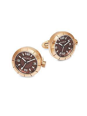 Jan Leslie Stainless Steel Watch Cuff Links