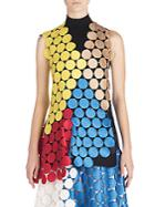 Marni Asymnmetrical Colorblock Macrame Top