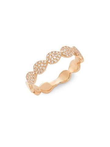 Diana M Jewels 14k Rose Gold & 0.25 Tcw Diamond Ring