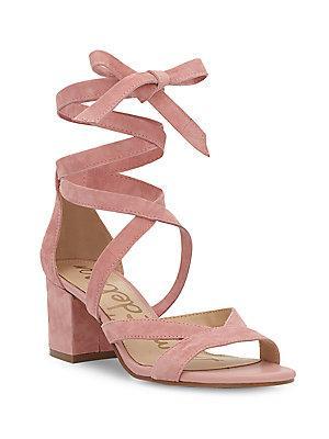 Sam Edelman Sheri Ankle Tie Block Heel Sandals