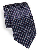 Canali Vintage Floral Print Silk Tie