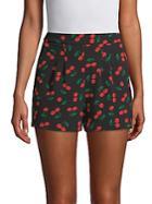 Free Generation Cherry-print Shorts