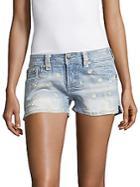 Miss Me Daisy Rain Denim Shorts