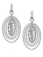 John Hardy Sterling Silver Oval Drop Earrings