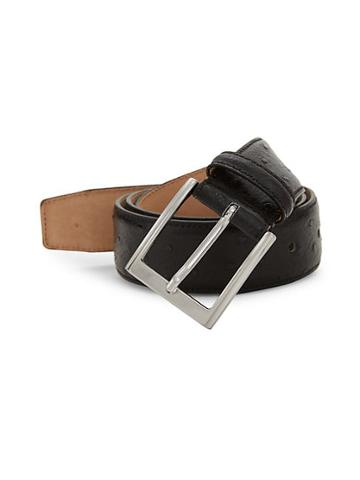 Saks Fifth Avenue Made In Italy Ostrich-stamped Leather Belt