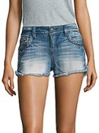 Miss Me Frayed Denim Shorts