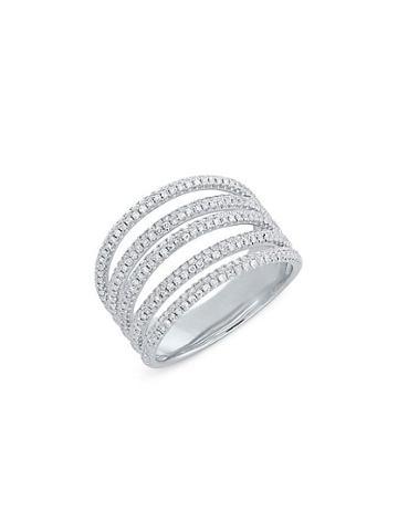 Diana M Jewels 14k White Gold & Diamond Ring