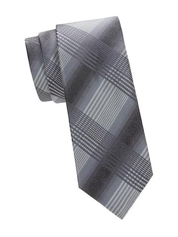 Saks Fifth Avenue Made In Italy Check Silk Tie