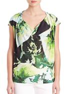 Escada Leaf-print Top