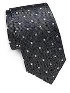 Yves Saint Laurent Square Patterned Silk Tie
