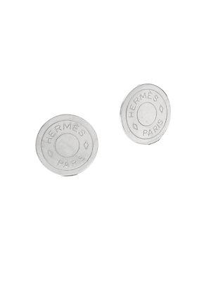 Herm S Vintage Silver Clou De Selle Earring