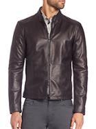 Giorgio Armani Leather Biker Jacket