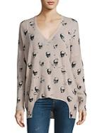 360 Sweater Hollis Cashmere Skull-print Sweater