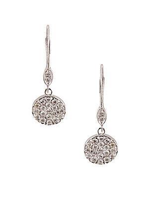 Meira T Diamond And 14k White Gold Drop Earrings