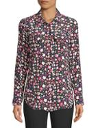 Equipment Slim Signature Floral Blouse
