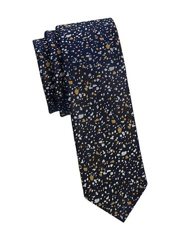 Nhp Abstract Speckle Print Silk Tie