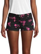 Versus Versace Floral Denim Shorts