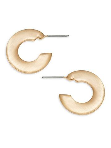 Ava & Aiden Flat Huggie Hoop Earrings
