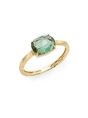 Marco Bicego Murano Green Tourmaline & 18k Yellow Gold Ring