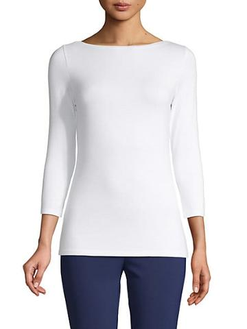 Saks Fifth Avenue Boatneck Three-quarter-sleeve Top
