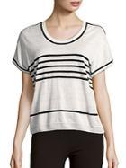 Maxmara Linen Striped Top