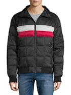 Tommy Hilfiger Midweight Striped Puffer Jacket