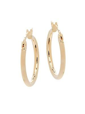 Saks Fifth Avenue 14k Yellow Gold Hoop Earrings/0.75