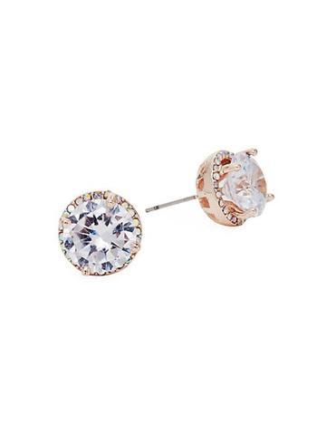 Ava & Aiden Cubic Zirconia Raised Bezel Stud Earrings