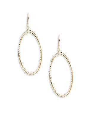 Saks Fifth Avenue 14k Gold Double Oval Drop Earrings