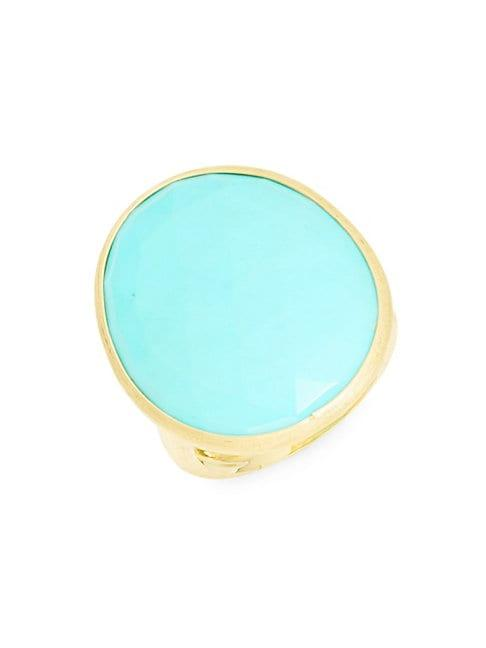 Marco Bicego Lunaria 18k Gold Oval Turquoise Ring