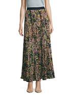 Bcbgmaxazria Esten Accordion Pleated Floral Skirt