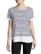 Andrew Marc Striped Knit Top