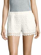 Saks Fifth Avenue Floral Patterned Scalloped Shorts