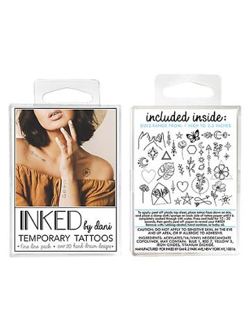 Inked By Dani Temporary Tattoos Fine Line Pack