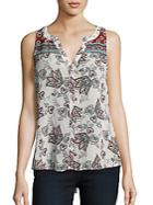 Sanctuary Sleeveless Floral Print Shell Top