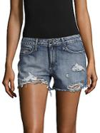 Hidden Jeans Distressed Denim Shorts