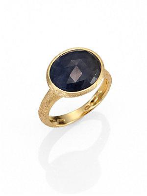 Marco Bicego Siviglia Sapphire & 18k Yellow Gold Cocktail Ring