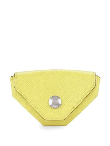 Herm S Vintage Hexagon-shaped Leather Clutch