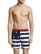 Tavik Amerika Striped Colorblock Swim Shorts