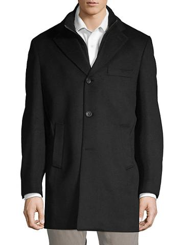 Saks Fifth Avenue Made In Italy Classic Id Wool Top Coat
