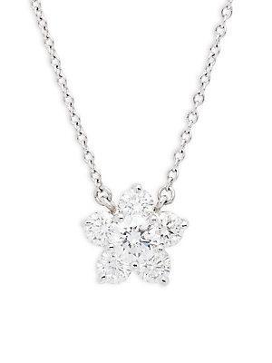 Kwiat Cluster Diamond Tags Diamond & 18k White Gold Pendant Necklace
