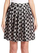 Boutique Moschino Polka Dot Pleated Skirt