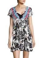 Shoshanna Printed Cotton Dress