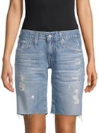 Ag Distressed Denim Shorts