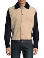 Valentino Shearling Denim Jacket