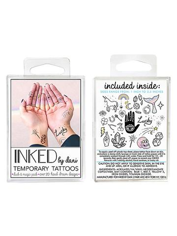 Inked By Dani Temporary Tattoos Luck & Magic Pack