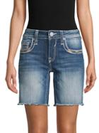 Vigoss Chelsea Frayed Denim Shorts
