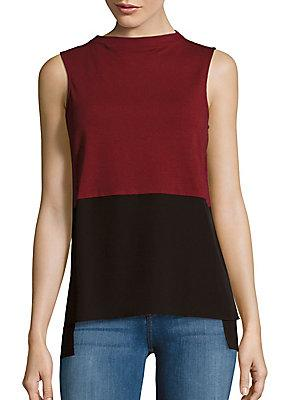 1.state Colorblock Sleeveless Top