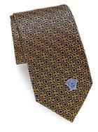 Versace Patterned Italian Silk Tie